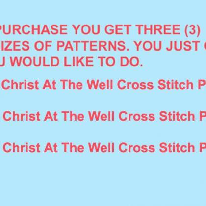 Christ At The WeLL Cross Stitch Pat..